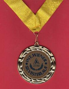 medaille - silvesterlauf 2014